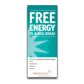 33.5 x 80 Vertical Banner including Silver Retractable Banner Stand-Free Energy Is A Big Idea Personalized
