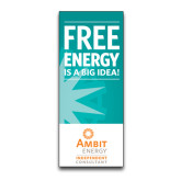 33.5 x 80 Vertical Banner including Silver Retractable Banner Stand-Free Energy Is A Big Idea
