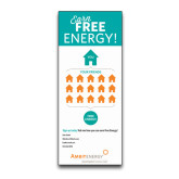 33.5 x 80 Vertical Banner including Silver Retractable Banner Stand-Earn Free Energy Personalized