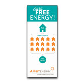 33.5 x 80 Vertical Banner including Silver Retractable Banner Stand-Earn Free Energy