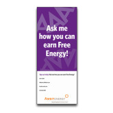33.5 x 80 Vertical Banner including Silver Retractable Banner Stand-Ask Me How Personalized
