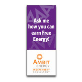 33.5 x 80 Vertical Banner including Silver Retractable Banner Stand-Ask Me How