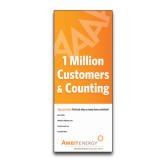 33.5 x 80 Vertical Banner including Silver Retractable Banner Stand-One Million Customers Personalized