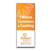 33.5 x 80 Vertical Banner including Silver Retractable Banner Stand-One Million Customers