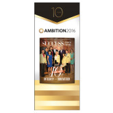 33.5 x 80 Vertical Banner including Silver Retractable Banner Stand-Success PopUp Banner Amoedo