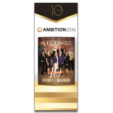 33.5 x 80 Vertical Banner including Silver Retractable Banner Stand-Success PopUp Banner Atkinson