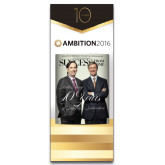33.5 x 80 Vertical Banner including Silver Retractable Banner Stand-Success PopUp Banner Corporate