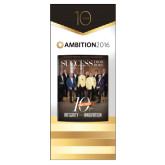 33.5 x 80 Vertical Banner including Silver Retractable Banner Stand-Success PopUp Banner Golan