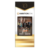 33.5 x 80 Vertical Banner including Silver Retractable Banner Stand-Success PopUp Banner Montie