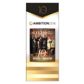 33.5 x 80 Vertical Banner including Silver Retractable Banner Stand-Success PopUp Banner Smith