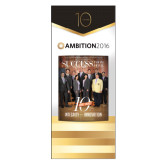 33.5 x 80 Vertical Banner including Silver Retractable Banner Stand-Success PopUp Banner Yepez