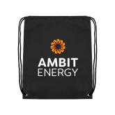 Black Drawstring Backpack-Ambit Energy
