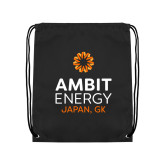 Black Drawstring Backpack-Ambit Energy Japan