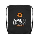 Black Drawstring Backpack-Ambit Energy Canada
