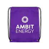 Purple Drawstring Backpack-Ambit Energy