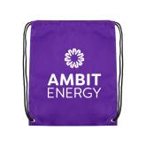 Purple Drawstring Backpack-Ambit Energy