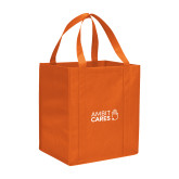 Non Woven Orange Grocery Tote-Ambit Cares