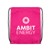 Pink Drawstring Backpack-Ambit Energy