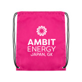 Pink Drawstring Backpack-Ambit Energy Japan