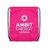 Pink Drawstring Backpack-Ambit Energy Canada
