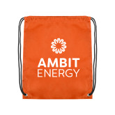 Orange Drawstring Backpack-Ambit Energy