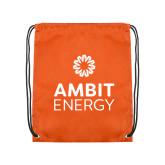 Orange Drawstring Backpack-Ambit Energy