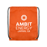 Orange Drawstring Backpack-Ambit Energy Japan