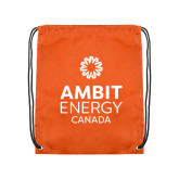 Orange Drawstring Backpack-Ambit Energy Canada