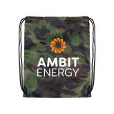Camo Drawstring Backpack-Ambit Energy
