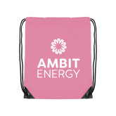Light Pink Drawstring Backpack-Ambit Energy