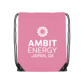 Light Pink Drawstring Backpack-Ambit Energy Japan