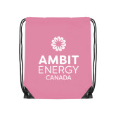 Light Pink Drawstring Backpack-Ambit Energy Canada
