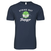 Next Level SoftStyle Navy T Shirt-Strike Out Hunger
