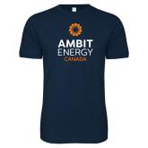 Next Level SoftStyle Navy T Shirt-Ambit Energy Canada
