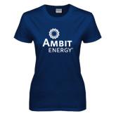 Ladies Navy T Shirt-