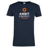 Ladies Navy T Shirt-Ambit Energy Canada