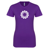 Next Level Ladies SoftStyle Junior Fitted Purple Tee-Spark