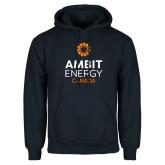 Navy Fleece Hoodie-Ambit Energy Canada