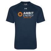 Under Armour Navy Tech Tee-Ambit Energy Japan