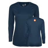 Ladies Syntrel Performance Navy Longsleeve Shirt-Spark