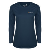 Ladies Syntrel Performance Navy Longsleeve Shirt-Ambit Energy
