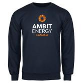 Navy Fleece Crew-Ambit Energy Canada