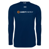 Under Armour Navy Long Sleeve Tech Tee-Ambit Energy