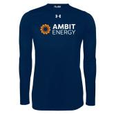 Under Armour Navy Long Sleeve Tech Tee-Ambit Energy