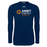 Under Armour Navy Long Sleeve Tech Tee-Ambit Energy Japan