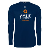 Under Armour Navy Long Sleeve Tech Tee-Ambit Energy Canada