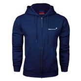 Navy Fleece Full Zip Hood-