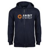 Navy Fleece Full Zip Hoodie-Ambit Energy