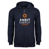 Navy Fleece Full Zip Hoodie-Ambit Energy Canada