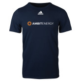 Adidas Navy Logo T Shirt-Ambit Energy
